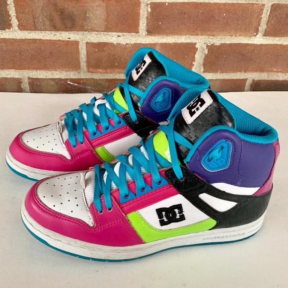 c7908278c0e4a DC neon skateboard shoes sneakers